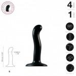 Насадка для страпона Strap-On-Me P&G-Spot Dildo, силикон, размер S