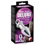 Анальная пробка с отверстием Deluxe Anal Plug Aluminium