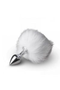 Металлическая анальная пробка с помпоном Bunny Tail Plug, S