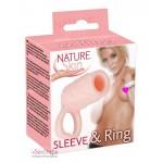 Насадка с кольцом на пенис Nature Skin Sleeve & Ring