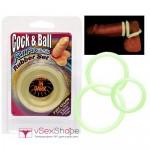 Кольца на пенис Cock & Ball Glow