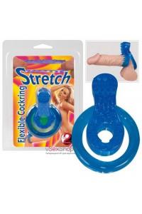 Кольцо на пенис Stretch Flexible Cockrin blue