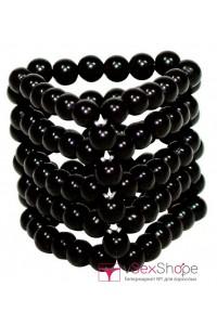 Кольцо на пенис black beads