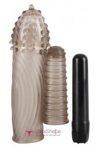 Насадка на пенис Exciter Sleeve + Vibe