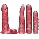 Набор для страпона Doc Johnson Vac-U-Lock Crystal Jellies Set, диаметр 3,8см, 2х4,5ми, 5,1см