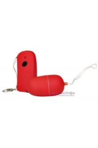 Виброяйцо на дистанционном пульте Bad Kitty Vibro Bullet Red