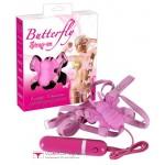 Вибратор бабочка Butterfly Strap-On
