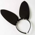 Ободок c ушками «Озорная Зайка», Black