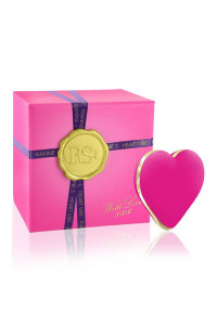 Вибратор-сердечко Rianne S: Heart Vibe Rose, 10 режимов работы, медицинский силикон, подарочная упаковка