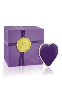 Вибратор-сердечко Rianne S: Heart Vibe Purple, 10 режимов работы, медицинский силикон, подарочная упаковка