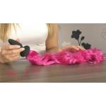 Анальная пробка с хвостом Unicorn Tails Pink