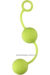 Вагинальные шарики neon pleasure balls green