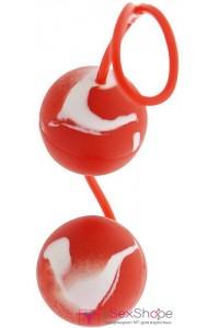 Вагинальные шарики Marbelized Duo Balls red