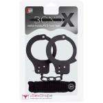 Набор bondx metal cuffs & love rope set black