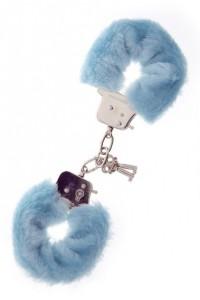 Наручники с мехом Metal Handcuff with Plush Blue