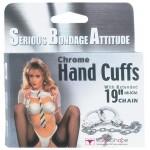 Наручники chrome handcuffs metal handcuffs w. key