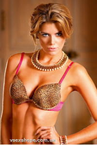 Бюстгальтер Leopard-Pink Push-Up Bra B081 Baci