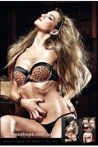 Бюстгальтер Black-Leopard Padded Underwire Bra B974 Baci